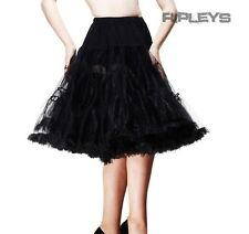HELL BUNNY 50s SKIRT Black PETTICOAT X-Long 25""