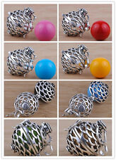 925 Sterling Silver Pregnancy Mexican Bola jingle bell Harmony ball Pendant H23