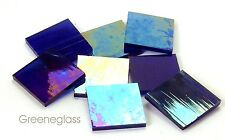Cobalt Blue Wispy Iridized Mosaic Glass Tile Cut to Order Shapes Medium Package