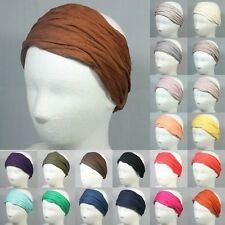 COTTON HEADBAND HEADWRAP BANDANA ELASTIC HEADWEAR STRETCH HAIR ACCESSORY WIG HAT