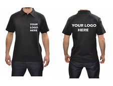Mens Active Polo T Shirts With Your Logo On Front Or Back  x 6 Shirts  XS to 4XL