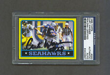 Curt Warner signed Seahawks 1986 Topps football card Psa/Dna
