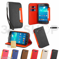 STAND WALLET LEATHER CASE COVER FOR SAMSUNG GALAXY S3 i9300 + SCREEN GUARD