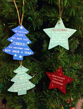 NEW GISELA GRAHAM WOODEN STAR TREE CHRISTMAS TREE DECORATION CHOICE OF 4