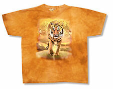 """THE MOUNTAIN """"BENGAL TIGER"""" YELLOW ORANGE TIE DYE T-SHIRT NEW OFFICIAL YOUTH CAT"""
