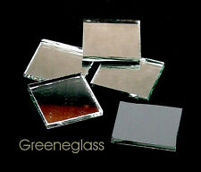 Thin Silver Mirror Mosaic Glass Tile * Cut to Order Shapes * Medium Package