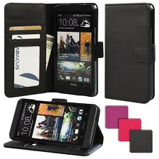 SALE - for HTC One M7 - EXCLUSIVE PU Leather Wallet Case Flip Hard Cover Stand