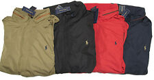 Polo Ralph Lauren Mens Leather Black Red Navy Stratford Jacket Windbreaker Coat