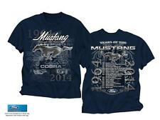 FORD MUSTANG THROUGH THE YEARS 1964 - 2014 NAVY BLUE TEE SHIRT