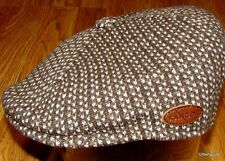 Mens Kangol  507  Houndstooth  Wool  Ivy  Cap  Color  Tobacco Brown