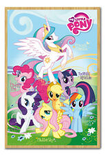 Framed My Little Pony Names Poster Ready To Hang - Choice Of Frame Colours