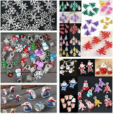 Wholesale CHRISTMAS TREE SNOWMAN SOCK SNOWFLAKE BEAD For Charm Pendant Craft DIY