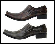 New in Box Black, Coffee Men's Fiesso Leather Slip on Dress Shoes FI 6537