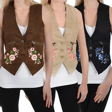 Miss Posh Womens Ladies Sleeveless Suede Effect Waistcoat Vest Top