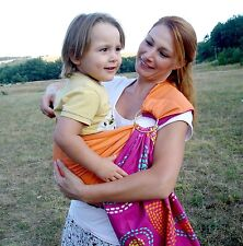 New handmade Baby Sling Carrier Reversible, with ring,NEWBORN to TODDLER ,COLOR
