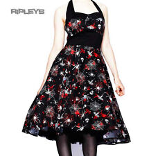 HELL BUNNY 50s DRESS Goth Halloween SETH Spider webs Horror All Sizes