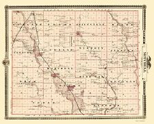 Old County Map - Mitchell Iowa Landowner - Andreas 1874 - 23 x 28.49