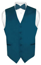 Men's Dress Vest BOWTie BLUE SAPPHIRE Bow Tie Set for Suit or Tuxedo