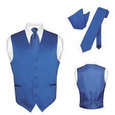 Men's Dress Vest NeckTie ROYAL BLUE Neck Tie Set for Suit or Tuxedo