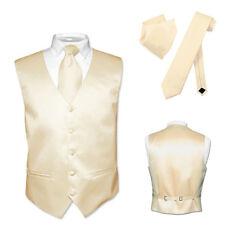 Men's Dress Vest NeckTie Light BROWN Neck Tie Set for Suit or Tuxedo