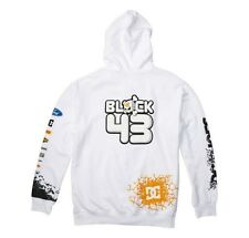 NEW DC Ken Block Hoodie Cracked Up Zip Jacket Sz M,XL White Mens Hoody