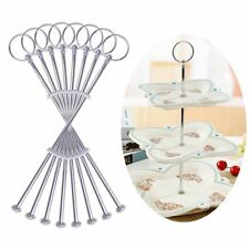 3 Tier Cake Plate Stand Handle Fittings silver Tea Shop 8/16/24/32/40/80 Sets