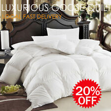 50% White Goose Down Cotton Cover Quilt/Duvet/Doona/Blanket or Pillow-Aus Size
