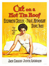 Cat on a Hot Tin Roof Liz Taylor Movie Print - Framed & Memo Board Available