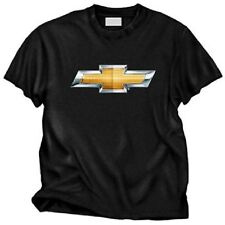CHEVY BOWTIE LOGO MENS BLACK TEE SHIRT