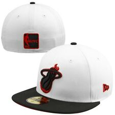 New Era Miami Heat Two-Tone 59FIFTY Fitted Hat - White/Black