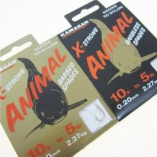 FTD - KAMASAN Animal X-Strong (BARBED & BARBLESS) Fishing Spade Hooks to Nylon