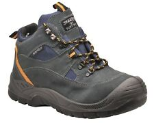 Mens Steel Toe Suede Leather Safety Work Hiking Boots Size 6 to 13 UK / PD60
