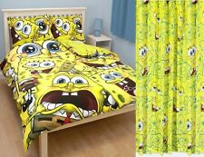 Spongebob Squarepants Heads DOUBLE Panel Duvet and Matching Curtains Set