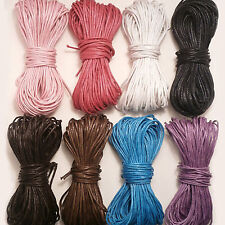 1mm Waxed Cotton Cord Thong Jewellery Making Thread 10, 20, 40 Metres