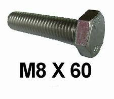 M8 x 60 Stainless Steel Hex Bolts / Set Screws 8mm x 60mm Stainless Bolts DIN933