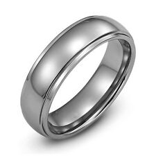 Mens Durable 8mm Tungsten Carbide Wedding Band Ring Size 12