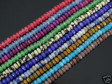 Jade Gemstone 2mm x 4mm Faceted Rondelle Spacer Loose Beads 15.5'' Strand Color