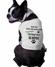 Ruff Ruff I'm Going To Be A Big Brother Announcement Ribbed Dog Shirt doggy