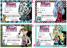 CARTE INVITATION ANNIVERSAIRE MONSTER HIGH