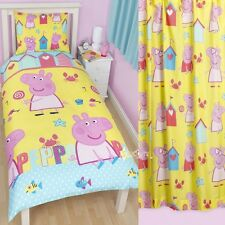 Peppa Pig Seaside Single Duvet and Matching Curtains Bedding Set