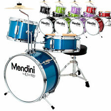 Mendini 13 Inch Junior Children Drum Set in Black, Blue, Green, Red, or Purple