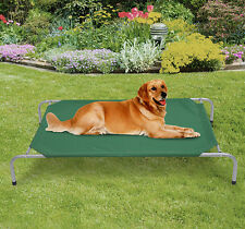 Pawhut New Portable Elevated Dog Cat Sleep Bed Camping Pet Cot Green