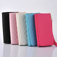 Hot Sale Leather Wristlet Wallet Case Cover Purse For Samsung Galaxy S3 S4 0226