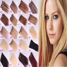 """16""""~26"""" Women's New Remy 7pcs/10pcs Clip In Real Human Hair Extensions 70g/100g"""