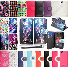 For Sony Xperia M C1904 C1905 PU Leather Magnetic Book Wallet Case Cover+Stylus