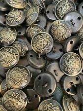 5 x Military Coat of Arms buttons  Antique Gold Colour  18mm or 23mm MB2