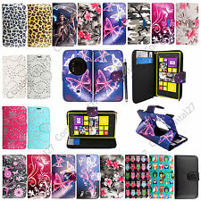 For Nokia Lumia 1020 Stylish Book Wallet Printed Leather Flip Case Cover +Stylus