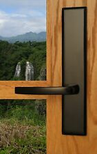 FPL Catalina Privacy Door Lever Set & Back Plates; Bedroom and Bathroom Doors