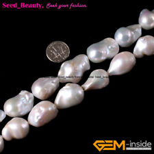 "Natural White Freeform Freshwater Pearl Gemstone Loose Beads Strand 15""SD3846-V"