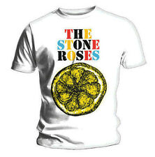 Official T Shirt THE STONE ROSES White BIG LEMON Multi